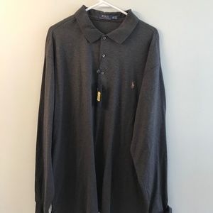 NWT dark grey Polo Ralph Lauren shirt